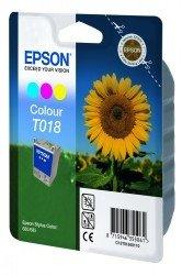 [Epson C13T01840110 T018 Ink cartridge color, 300 pages, 37ml] (T018 Colour)