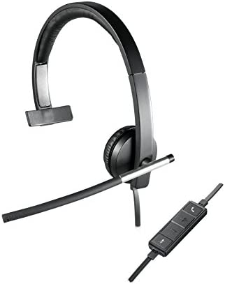 USB Indicatore LED Nero /Controlli Cuffia Compatibili con PC//Mac//Laptop Mono Con Microfono a Cancellazione di Rumore Logitech H820e Cuffie Wireless