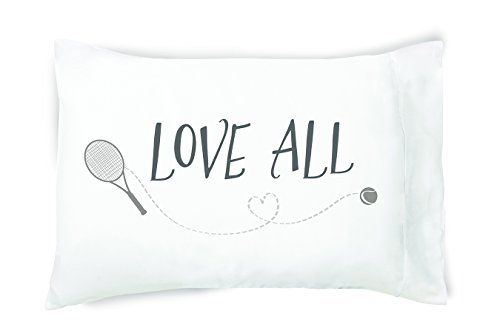 Love All Tennis fan Pillowcase 300 Thread Count Cotton Queen Size