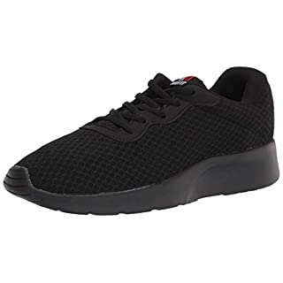MAITRIP Mens Gym Shoes,Athletic Running Shoes,Lightweight Breathable Mesh Casual Tennis Sports Workout Walking Sneakers,All Black,Size 10