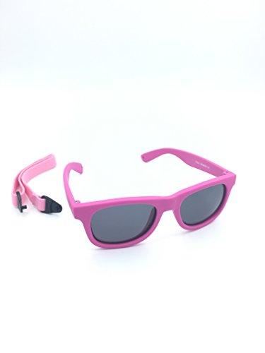 Kids / Baby Wayfarers Polarized Sunglasses With Strap 100% UVA & UVB - Baby Sunglass