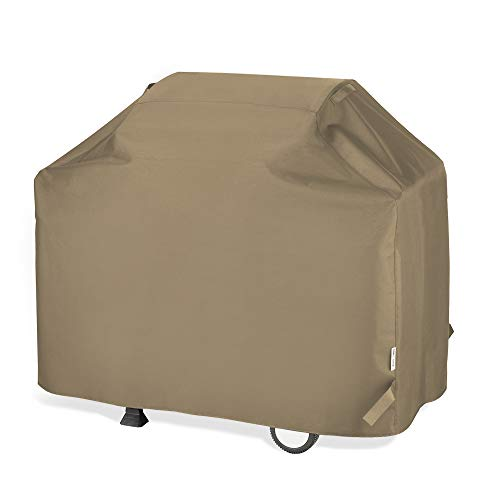 UNICOOK Barbecue Gas Grill Cover 55 Inch, Waterproof BBQ Cover with Seam Taped, Rip and Fade Resistant, Fits Most Brands Gas Grills, 55″ W x 23″ D x 42″ H, Neutral Taupe