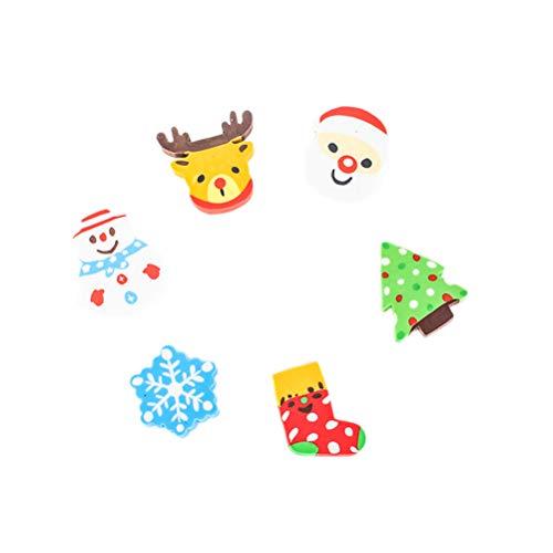 STOBOK 36pcs Christmas erasers for Holiday Kids Students Gift Basic School Supplies (Random Pattern) by STOBOK (Image #6)