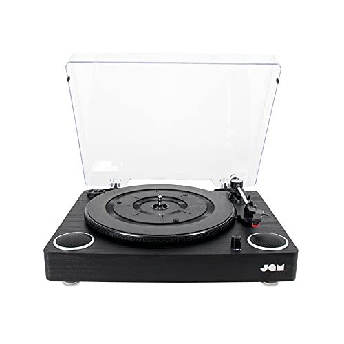 Jam Play Platenspeler – Grammofoon LP Draaitafel, 3 Snelheden, Riemaandrijving voor superieur geluid, Hoogwaardige…