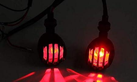 Retro modifizierte Motorrad Blinker 2 St/ück Universal Motorrad Blinker 3 Draht LED Chrom Gl/ühlampe Kontrollleuchte Gelb