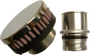Gloss Black CFM Performance 1-0201-0-GB Billet Baffled Valve Cover Breather Oil Cap LSx LS1 LS2 LS3 LS6 LS7