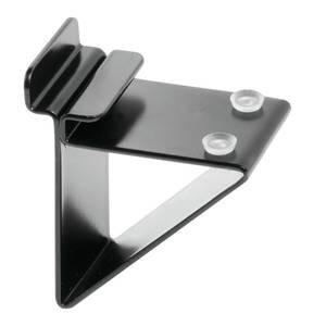 slatwall glass shelf brackets black