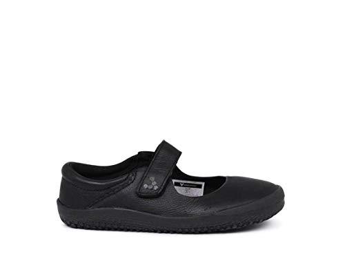 Vivobarefoot Girls Wyn Kid's Classic School Shoe, Black, 28 D EU Little (11 US) ()