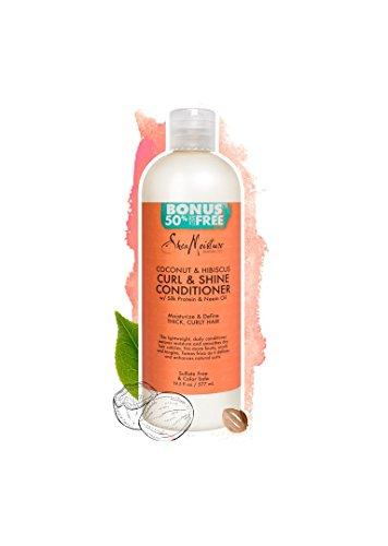 - Shea Moisture Coconut & Hibiscus Curl & Shine Conditioner, 19.5 Pound