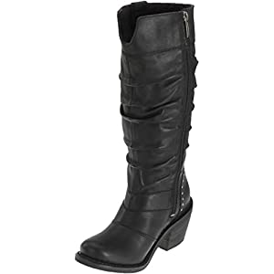 Harley-Davidson Womens Jana Black Leather High Cut Boot (8)