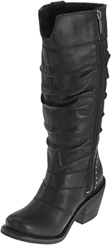 Harley-davidson Kvinna Jana Svart Läder Hög Cut Boot
