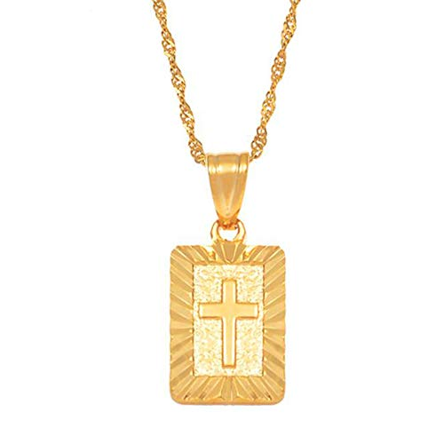 Christian Cross Pendants Women Gold Color Christianity Crucifix Classic Jewelry Charm Pendant Jesus Items gift
