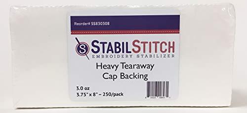 Heavy (3.0 oz.) Tearaway Cap Backing 3.75