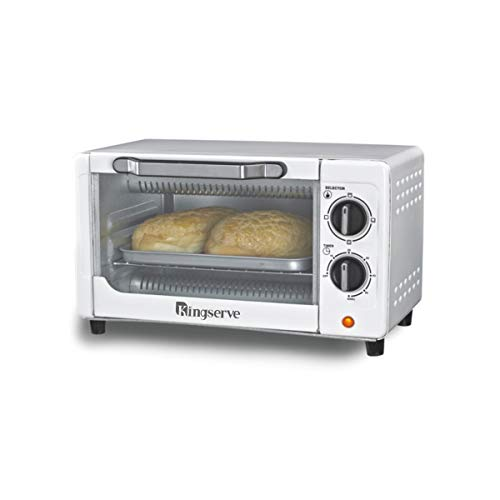 (KingServe Small Toaster Ovens,Convection Bake Oven Countertop,Oven Small Appliances Compact Modern Toaster Oven High Quality Oven Kitchen Counter Tabletop,Stainless Steel Exterior Oven(Silver))