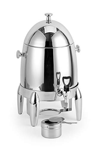 ChefMaid Extra heavy coffee urn 3 Gallon capacity - durable and long-lasting - stainless H/D base - includes a fuel holder - shiny silver surface by ChefMaid (Image #1)