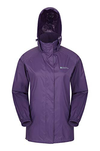 Mountain Warehouse Pakka Womens Rain Proof Waterproof Jacket Purple