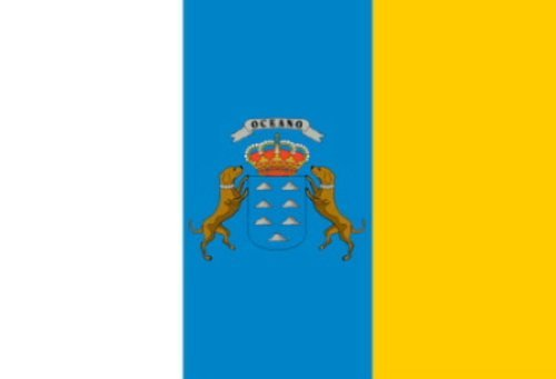 Klicnow Canary Islands Flag 5Ft X 3Ft (Canary Islands Flag)
