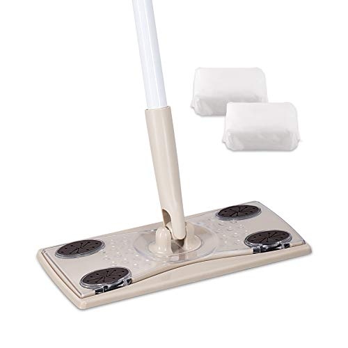 Eyliden Professional Dry Sweeping Mop, Includes 30 Dry Mops Pads Refills Disposable - Sweeper Dry Starter Kit for Hardwood, Laminate, Tile Floor Cleaning