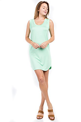 Sage Neck Round Red Modal Women's Couture Light Dress Jersey Sleeveless Betsy RvFqv