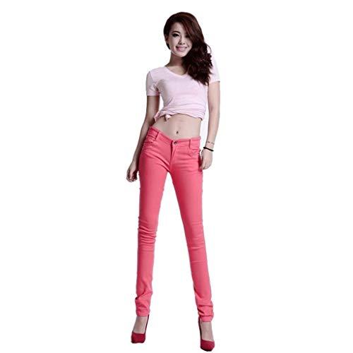 Rxf Estivi Slim Con Fianchi Donna Da Jeans 3 Sottili Pantaloni AwAxnqBvO