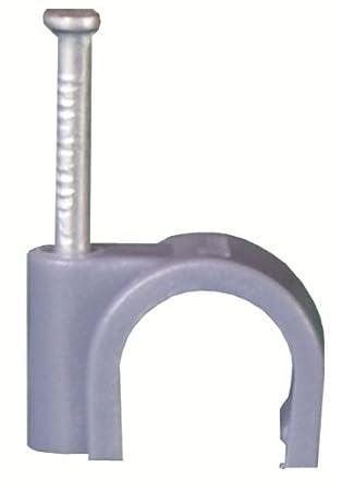 Legrand LEG31529 Fixfor Lot de 100 Attaches pour c/âble /ø 10 mm Gris RAL 7035