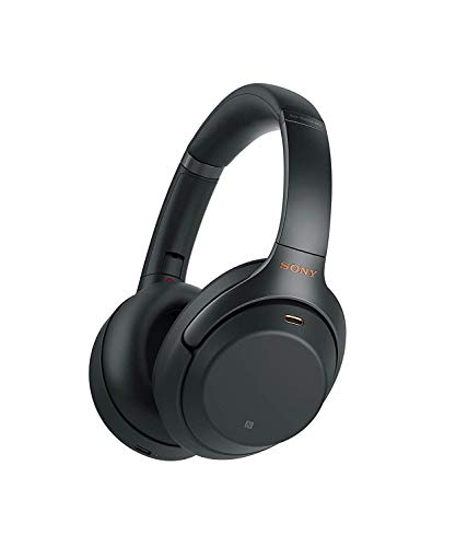 Sony Noise Cancelling Headphones WH1000XM3: Wireless Bluetooth Over the Ear Headphones with Mic and Alexa voice control - Industry Leading Active Noise Cancellation - Black (Best Music To Test Speakers Bass)