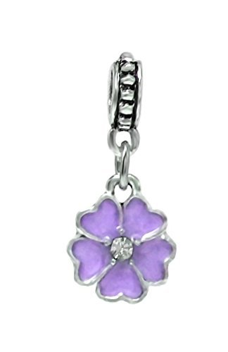J&M Dangle Flower Charm Bead for Bracelets -