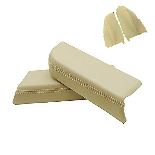DSparts Replaces Door Panel Armrest Synthethic Leather Cover for Honda Pilot 09-13 Leather Part Only Beige