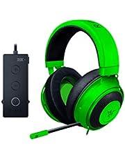 Razer Kraken Tournament Edition - Auriculares Gaming, con Cable, Control de Audio y THX Spatial Audio, Alámbrico, Verde