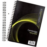 [Hamelin Cambridge EveryDay Notebook Wirebound Recycled 100 Pages 80gsm A5 Ref 400020509 [Pack 5] (Cambridge Recycled Wirebound Notebook)