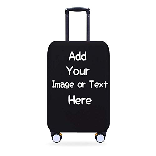 Personalised Travel Luggage Cover with Your Image or Text Travel Luggage Protector Elastic Dustproof Fits 26-30 Inch Size L
