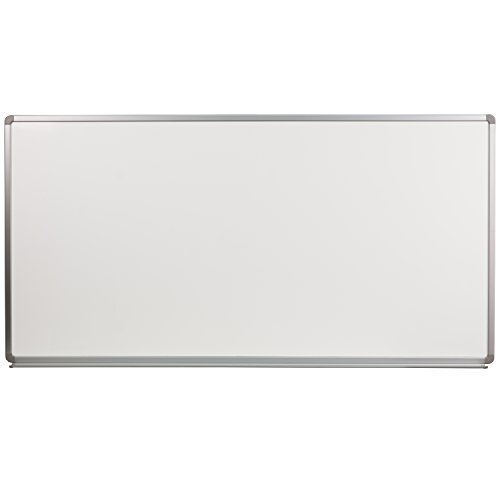 Flash Furniture 6' W x 3' H Porcelain Magnetic Marker Board by Flash Furniture