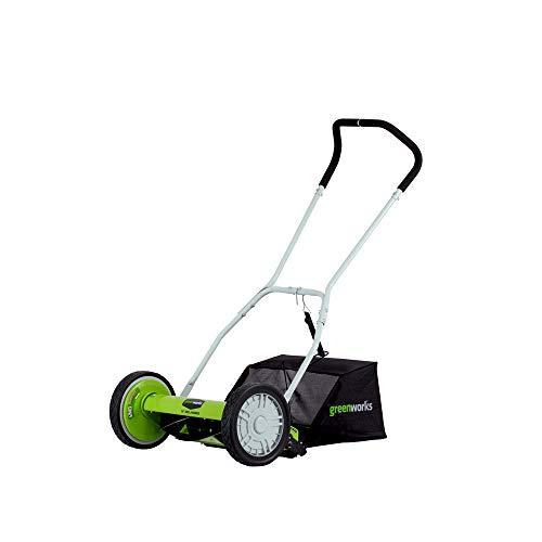 Greenworks 16-Inch Reel Lawn Mower with Grass Catcher 25052 (Lawn Mower Catcher)