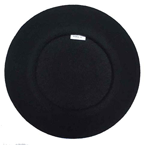 (Laulhere Heritage Traditional French Wool Beret (Black))