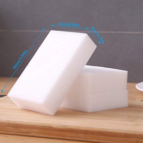 FOCCTS 30pcs Esponjas Mágicas de Limpieza Quitamanchas Almohadilla Puede ser Cortado 10*6*2cm (Blanco)