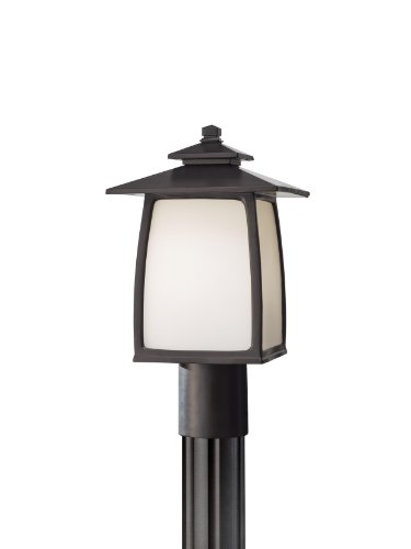 Feiss ND-OL8507ORB, Wright House Outdoor Post Lighting, Pole, 100 Total Watts, Bronze
