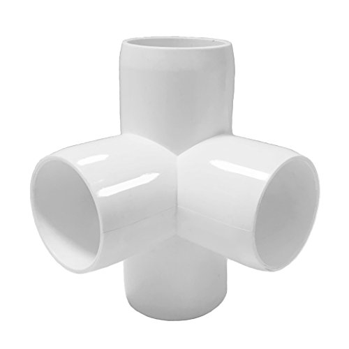 4 Way 1inch Tee PVC Fitting Elbow 1in - Build Heavy Duty PVC Furniture - PVC Elbow Fittings [Pack of 8] by SELLERS360 (Image #4)