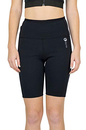 Medium Delfin Spa - Delfin Spa Women's Heat Maximizing Neoprene Workout Short, Black, Medium