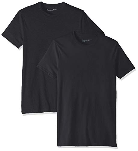 Under Armour Charged Cotton Crew - 2 Pack, Black//Black, XX-Large