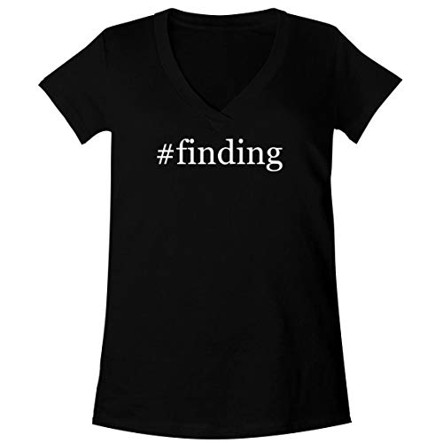The Town Butler #Finding - A Soft & Comfortable Women's V-Neck T-Shirt, Black, Small