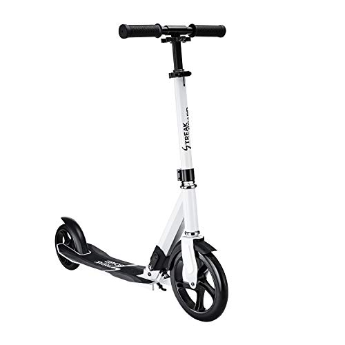 streakboard Kick Scooters Adult Featuring Quick-Release Folding System Foldable Kick Scooter with Shoulder Strap 230mm Big Wheels Aluminum Alloy Commuter Scooter Multiple Colors Available