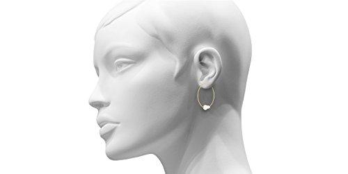 Melissa McArthur Boucles d'oreilles créoles perles argent 925 vermeil, 1.8g, Ø35mm