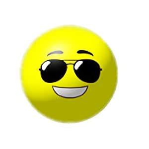 5 Inch Sunglasses Smile Face Emoji Ball - 1 Count w/ free gift