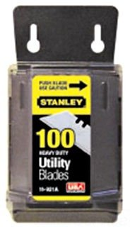 12 Pack of Stanley 11-921A 1992 Heavy Duty Utility Blades w/Dispenser (100 per Package, 1,200 Total Blades) by Stanley-Proto