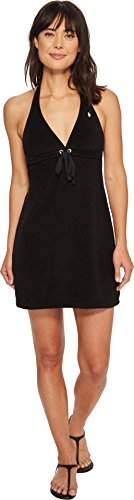 Polo Ralph Lauren Women's Iconic Terry Grommet Halter Dress Cover-Up Black X-Small ()