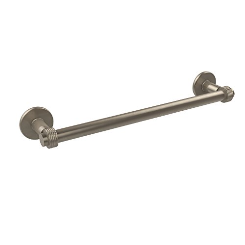 Allied Brass 2051G/18-PEW Continental Collection 18 Inch Towel Bar with Groovy Detail, 18-Inch, Antique Pewter
