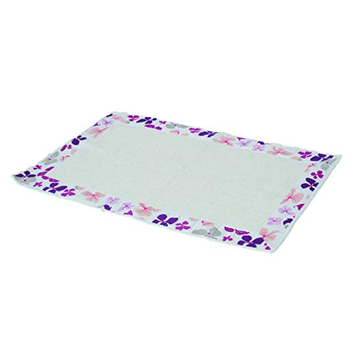 "EVIDECO 711156 Printed Border Cotton Bathroom Mat Home Rug SOFTIES Purple 20""W X 31.5""L from EVIDECO"