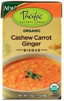 (Pacific Natural Foods Organic Bisque Cashew Carrot Ginger -- 17.6 oz )