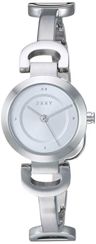 DKNY Women's City Link Quartz Watch with Stainless-Steel Strap, Silver, 14 (Model: NY2748)