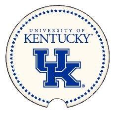 Coasting & Hosting Absorbent Car Coaster NCAA University of Kentucky Wildcats